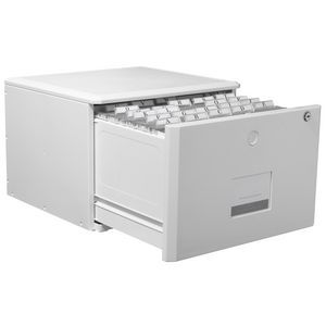 Corcoran Riggs Stackable Lockable Filing drawer White | Officeworks
