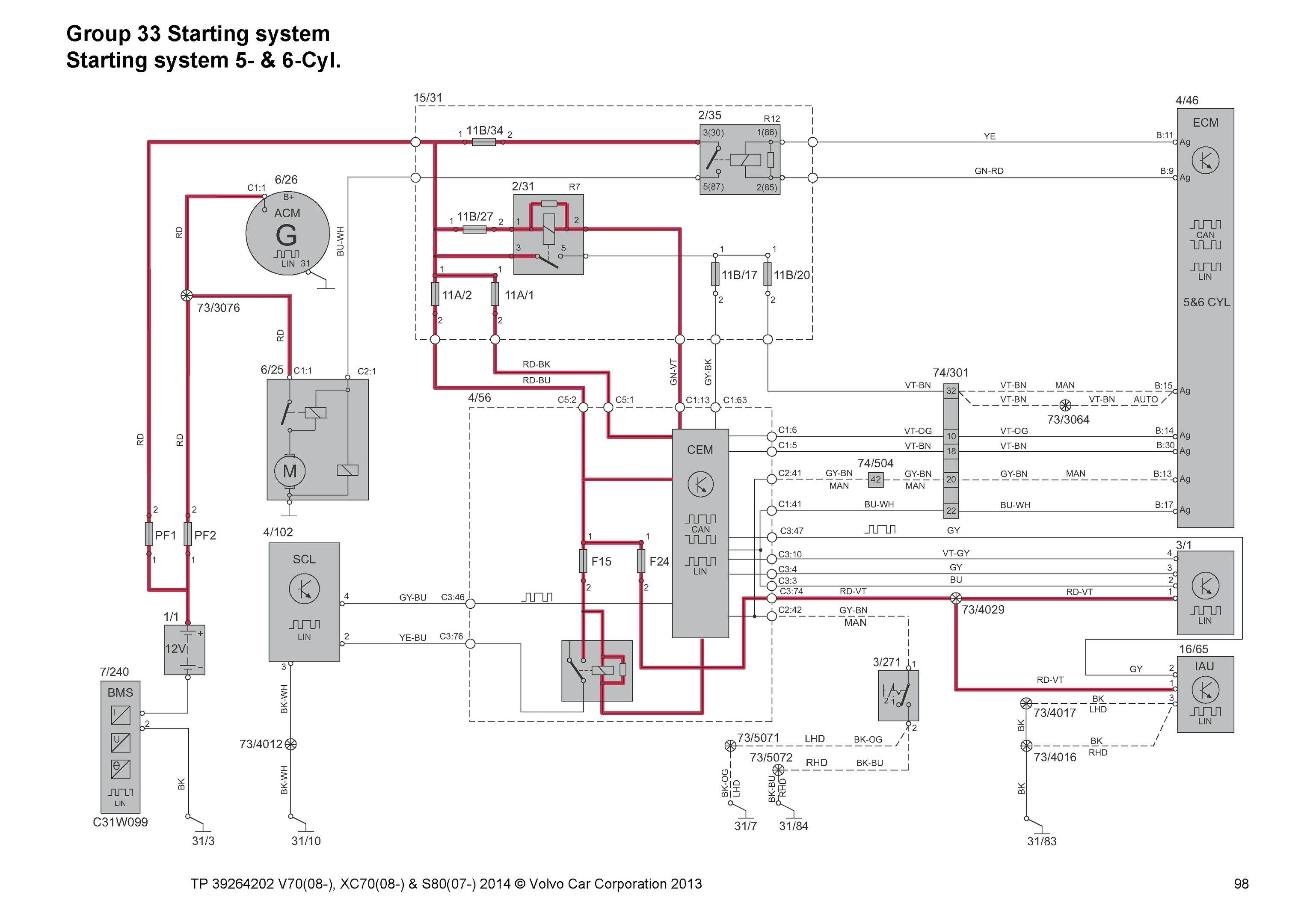 Volvo S80 2000 Wiring Diagram Volvo S80 Volvo Electrical Wiring Diagram