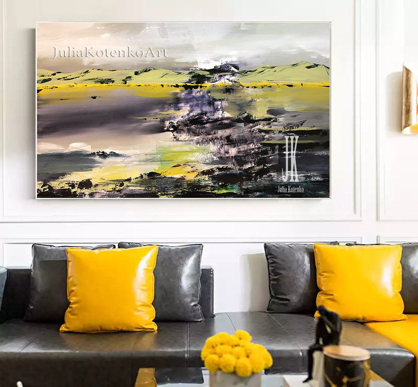 Oversized Wall Art Large Landscape Painting Abstract Acrylic
