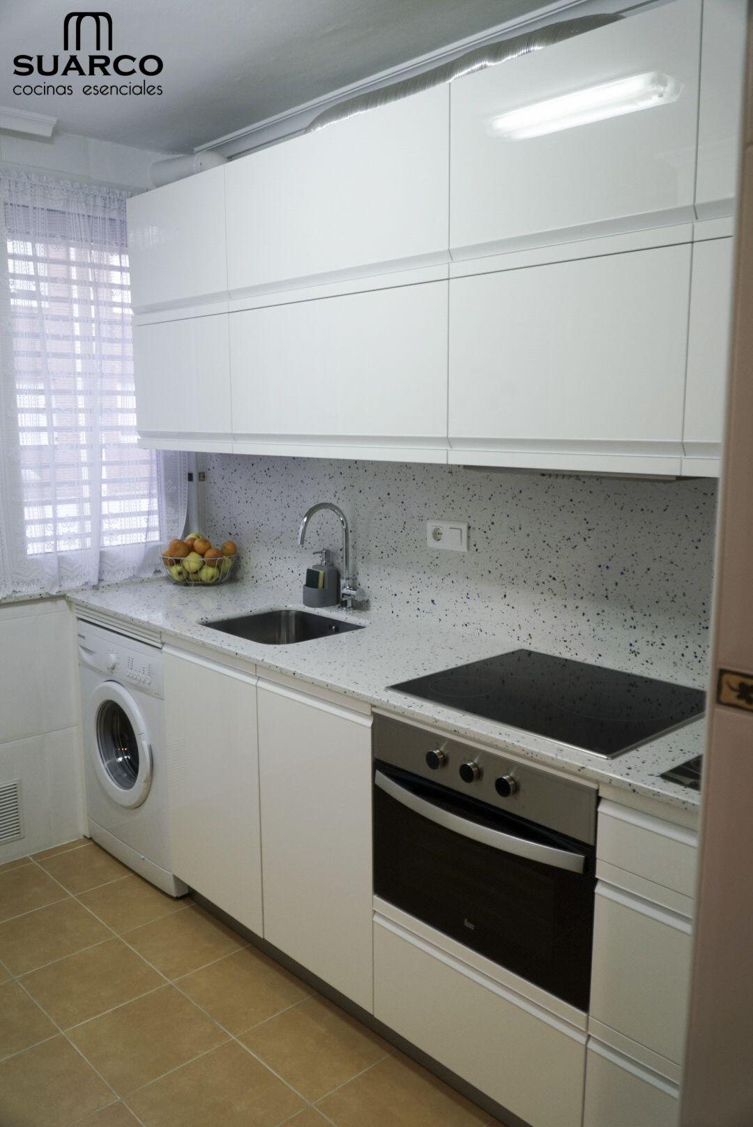 Cocina blanco brillo cocinas suarco cocinas blancas - Cocinas suarco ...