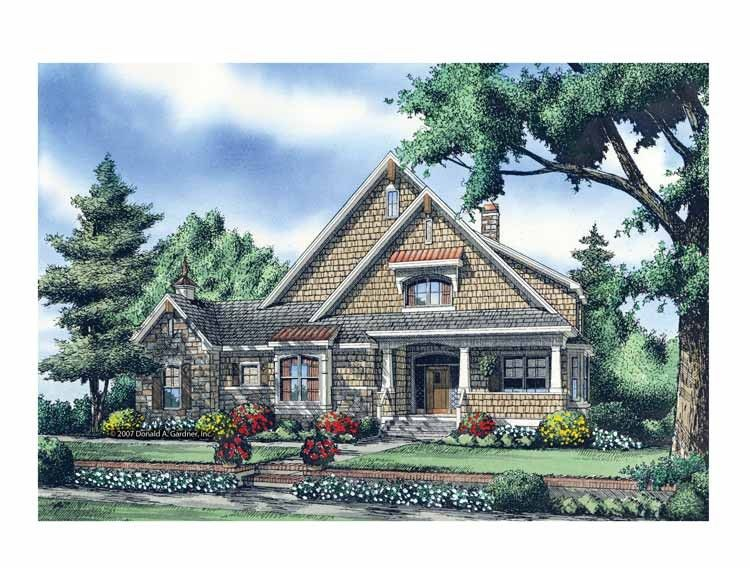 Eplans Bungalow House Plan - Modest Facade Hides a Large Interior - 3560 Square Feet and 5 Bedrooms from Eplans - House Plan Code HWEPL69205