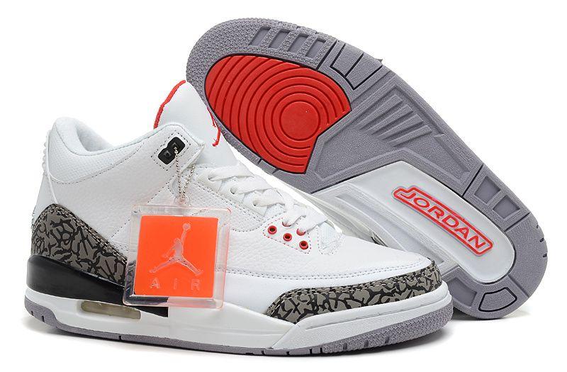 Air Jordan III 88 Retro White Fire Red Cement Grey Black 580775-160 New  Jordans