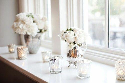 Wedding deco Fensterbank dekorieren, Dekor, Dekoration