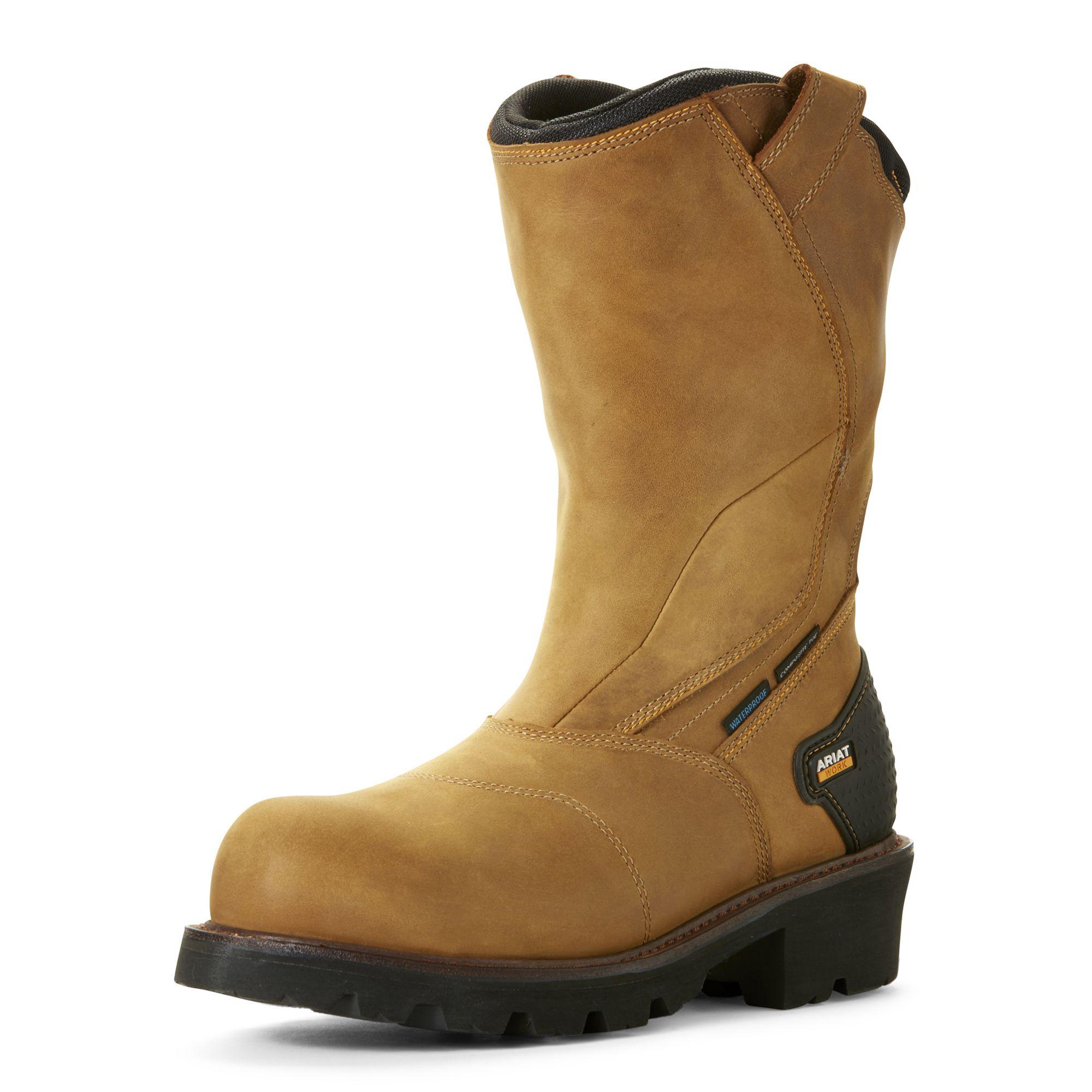 Powerline Waterproof Composite Toe Work Boot Composite Toe Work Boots Boots Leather