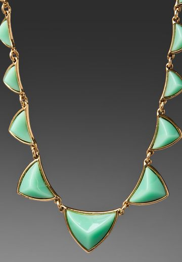House of Harlow Revolve EXCLUSIVE Pyramid Station Necklace in Mint Green