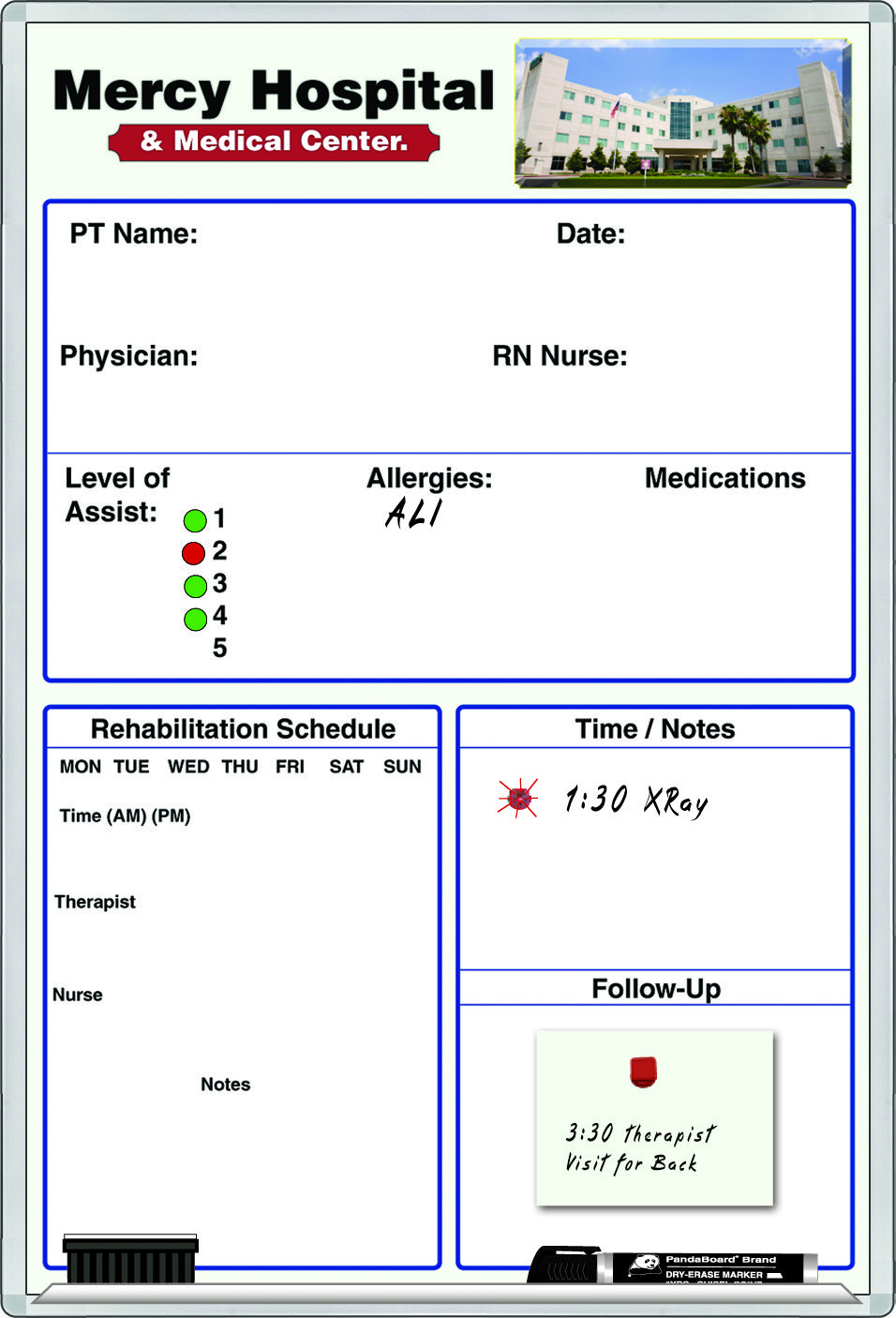 Hospital PatientBedside™ CustomPrinted Dry