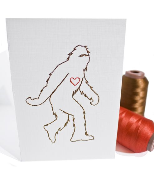 Even Sasquatch Loves card. SO MUCH YES.