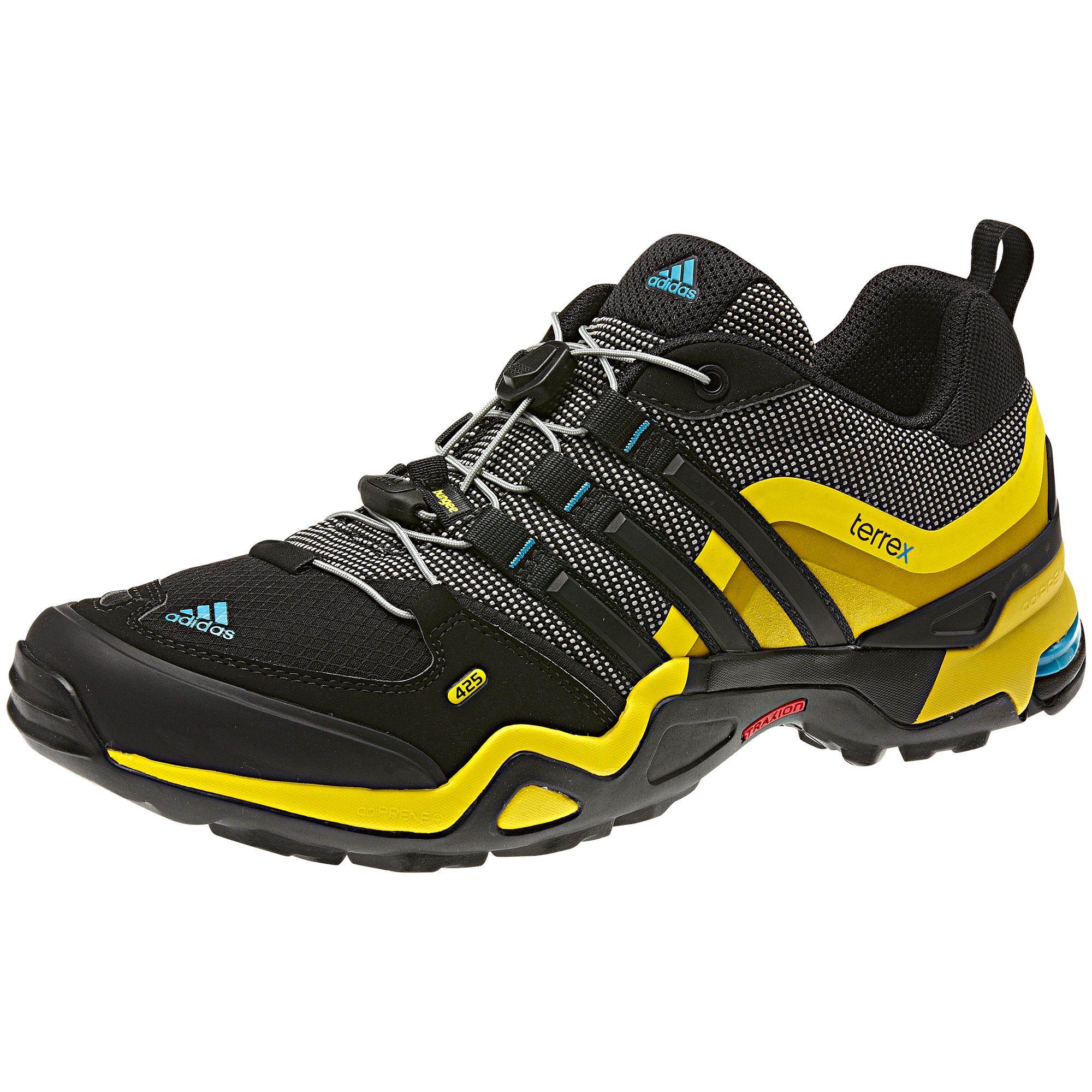 Manner Terrex Fast X Low Schuh Grey Rock Vivid Yellow Black Zapatos Adidas Zapatillas Adidas Zapatos Deportivos