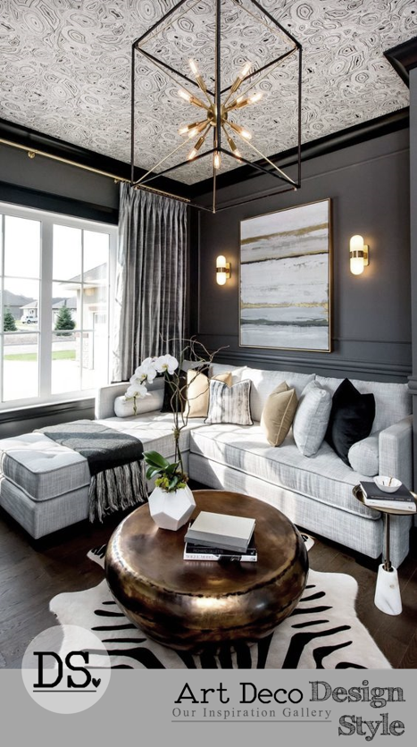 Pin By Dezign Studio On Design Style Art Deco Inspiration Apartment Living Room Design Transitional Living Room Design Transitional Living Rooms #zebra #living #room #decor