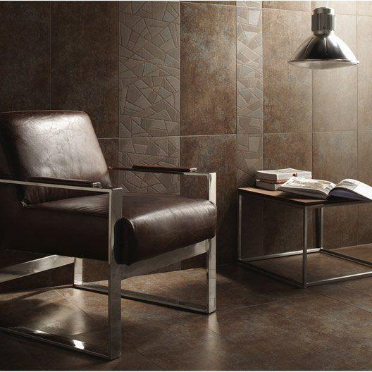 carrelage int rieur factory fine paisseur artens en gr s marron 30 x 60 cm salle de bain. Black Bedroom Furniture Sets. Home Design Ideas