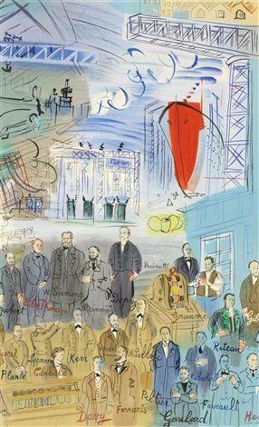 Raoul Dufy (1877-1953, France) | la Fee Electricite, 1953