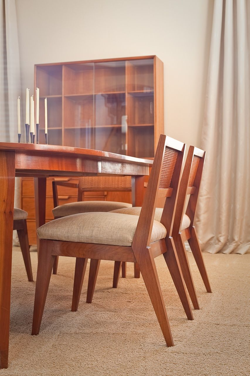 Mid Century Modern Cherry Dining Set Parkway Terrace By Tomlinson