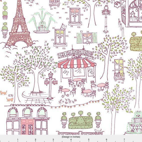 Girly Parisian Fabric Parisian Stroll In Antoinette By Etsy Fabric Paris Nursery Decor Minky Fabric