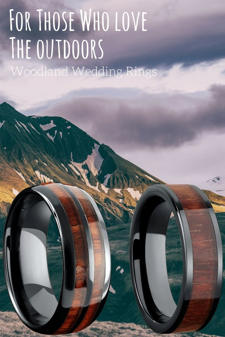 The outdoor lovers wedding ring These wood wedding rings are