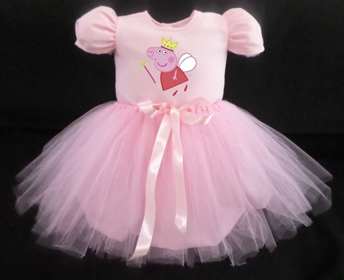 vestido infantil peppa pig bailarina festa fantasia 18085