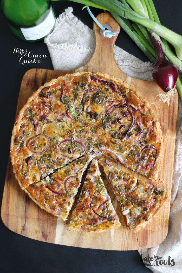 Kräuter Zwiebel Quiche                                                                                                                                                                                 Mehr #zucchinipastarecipes