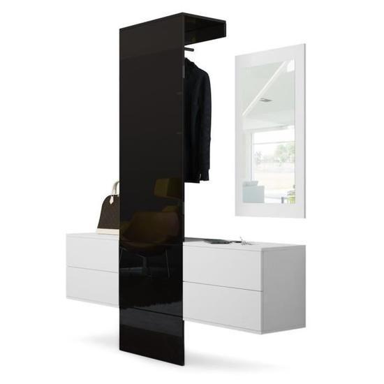 Vestiaire blanc mat et portemanteau en Noir haute Pinterest
