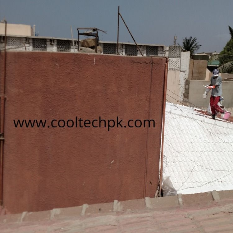 Roof Heat Proofing Karachi Cooltech In 2020 Roof Insulation Roof Heat