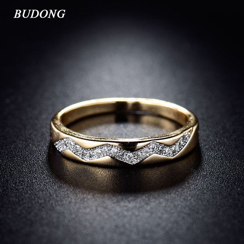 Fashion Lady Ring Valentines Day 2017 Gold Plated Ring Vintage ...