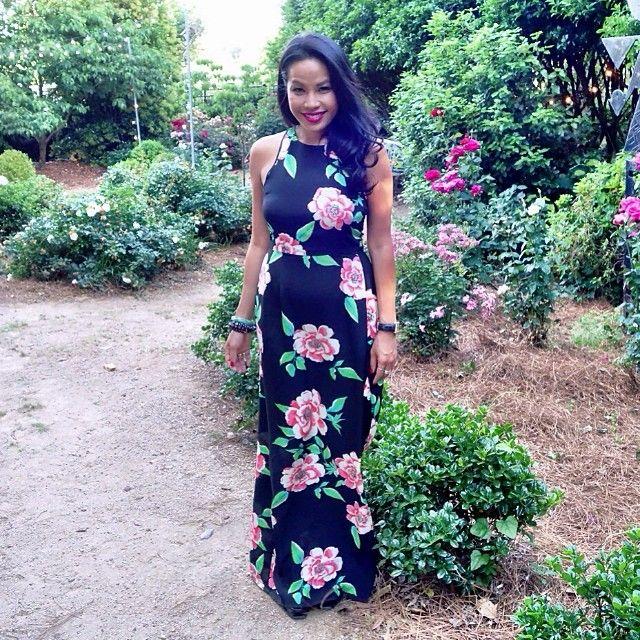 It's Wedding Season! Rockin' #yumikim Chelsea Rosebud Print Dress. Perfect For A Rose Garden Wedding.  #rastogiwedding #ykmyway By Yumikim
