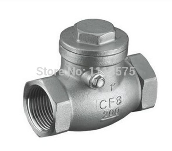 Dn50 2 Authentic 304 321 316 Types Stainless Steel Thread Threaded Non Return One Way Check Water Oil Valve Valves Oils Valve Stainless Steel