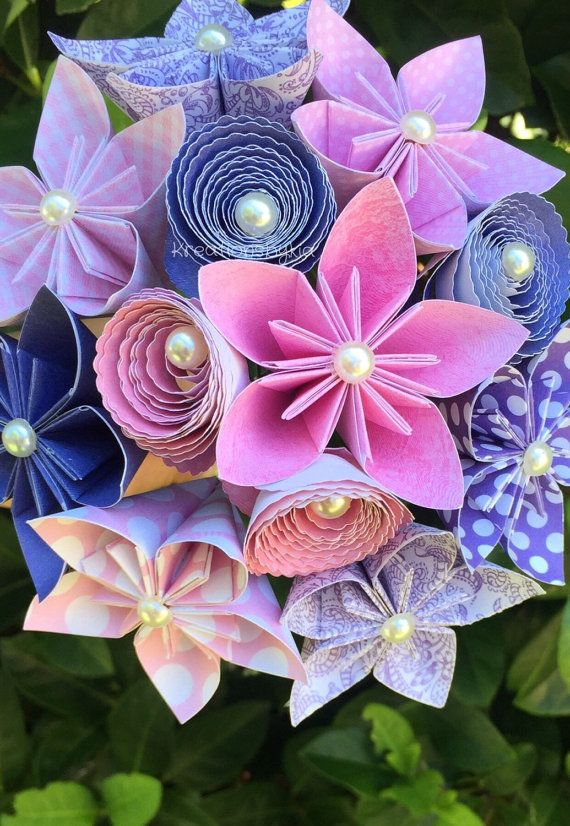 Enchanted paper flower bouquet paper bridal bouquet kusudama enchanted paper flower bouquet paper bridal by kreationsbykia mightylinksfo