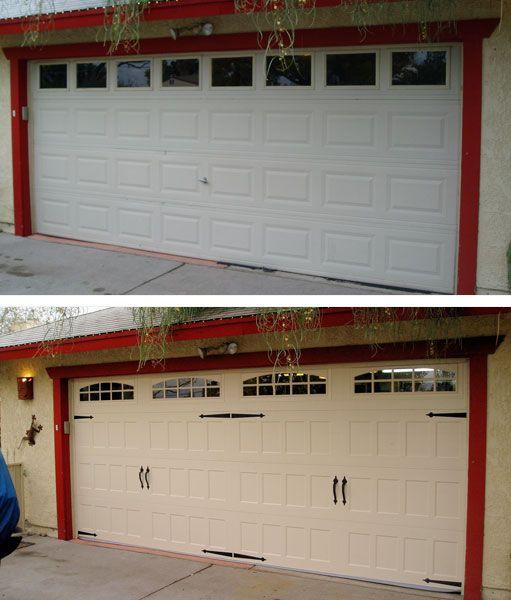 Amarr Oak Summit 1000 Walnut Garage Door: Before And After! Amarr's Oak Summit Collection Features