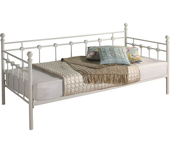 Buy Argos Home Abigail Single Metal Day Bed Frame White Day