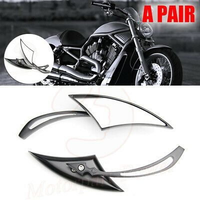Motorcycle Blade Rearview Mirrors For Harley Touring Cruiser Chopper Bobber