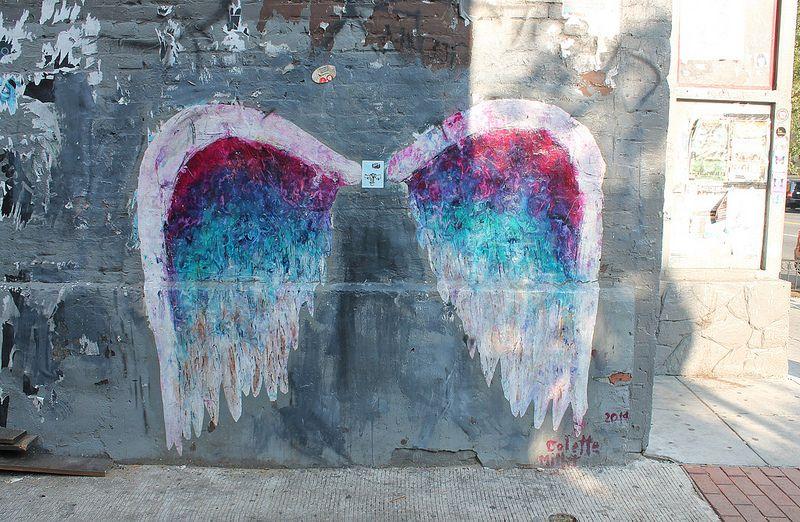 Colette miller angel wings mural 1357 u street alley for Angel wall mural