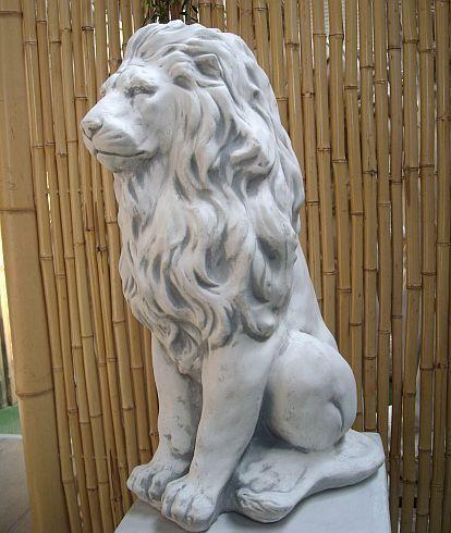 Steinfiguren Garten steinfigur löwe aus steinguss frostfest für haus und garten löwen