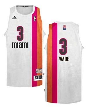 sports shoes 77ed2 953c2 adidas Miami HEAT Dwyane Wade Adult Floridians Swingman ...