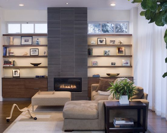 Christoffersen modern living room other metro john lum architecture inc aia like the floating bottom cabinets also fireplace with next to it design pictures remodel decor