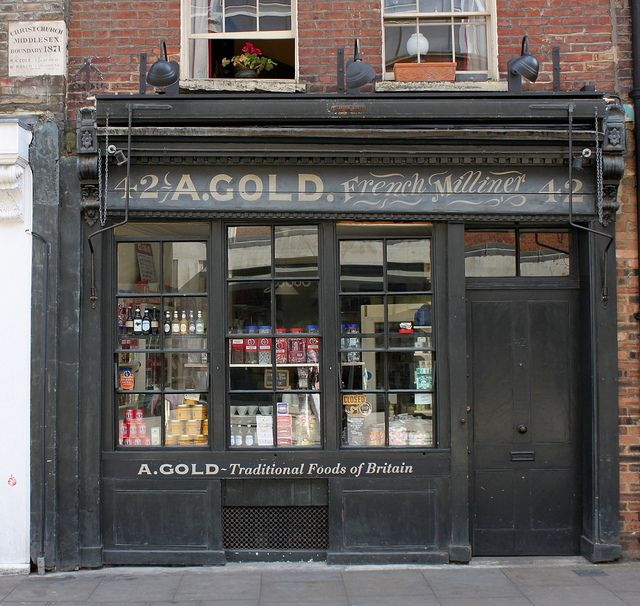 Cafe Jardin East London: A. Gold French Milliner: Brushfield Street
