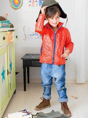 burda style, Schnittmuster für Kinder - Der Steppstoff ist auf der ...