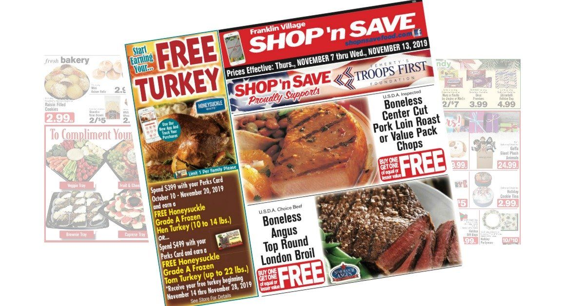 Shopnsave Weekly Ad 110719 Header Pork Loin Roast Weekly Ads Bakery