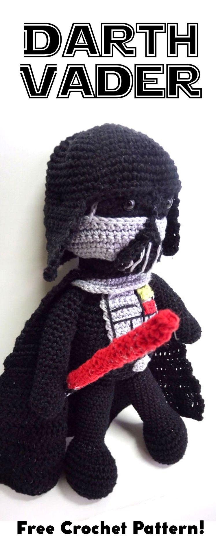 Darth Vader Amigurumi Doll: Free Crochet Pattern | Patrones ...