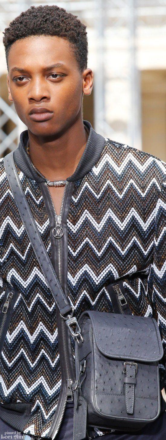 Louis Vuitton Spring 2017 Man bag, Leather jacket men