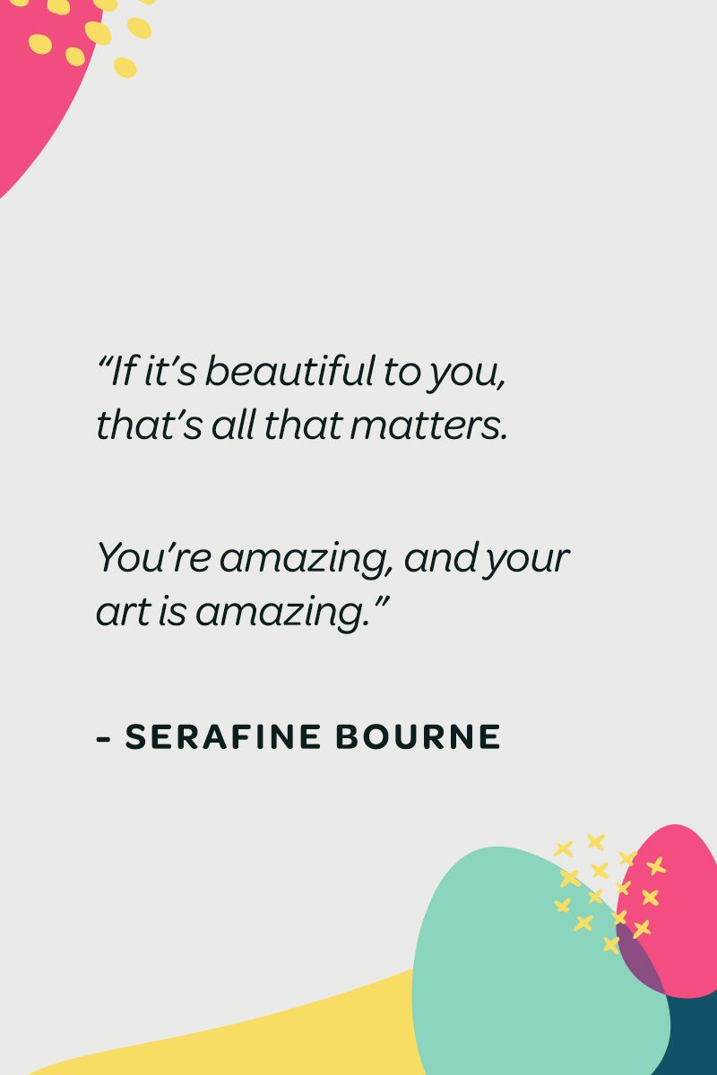 How Sera Bourne worked through her grief by making carefree art.