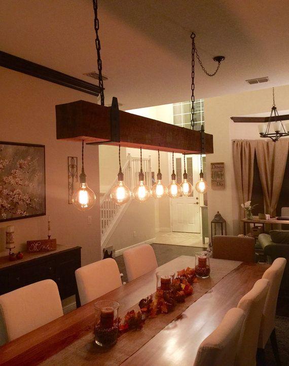 Luces de vigas de madera reciclada candelabro con globo for Imitacion replica lamparas diseno