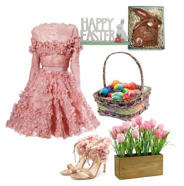"""Easter outfit"" by fashion-crave ❤ liked on Polyvore featuring Elie Saab and Rupert Sanderson"