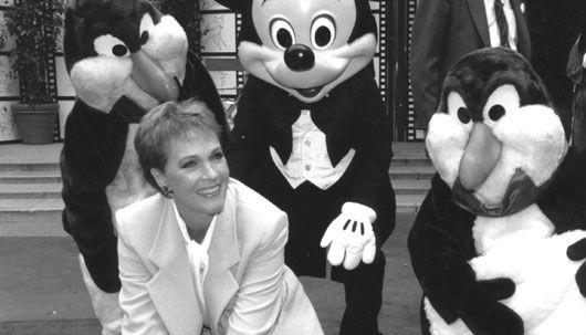 Julie Andrews in Disneyland