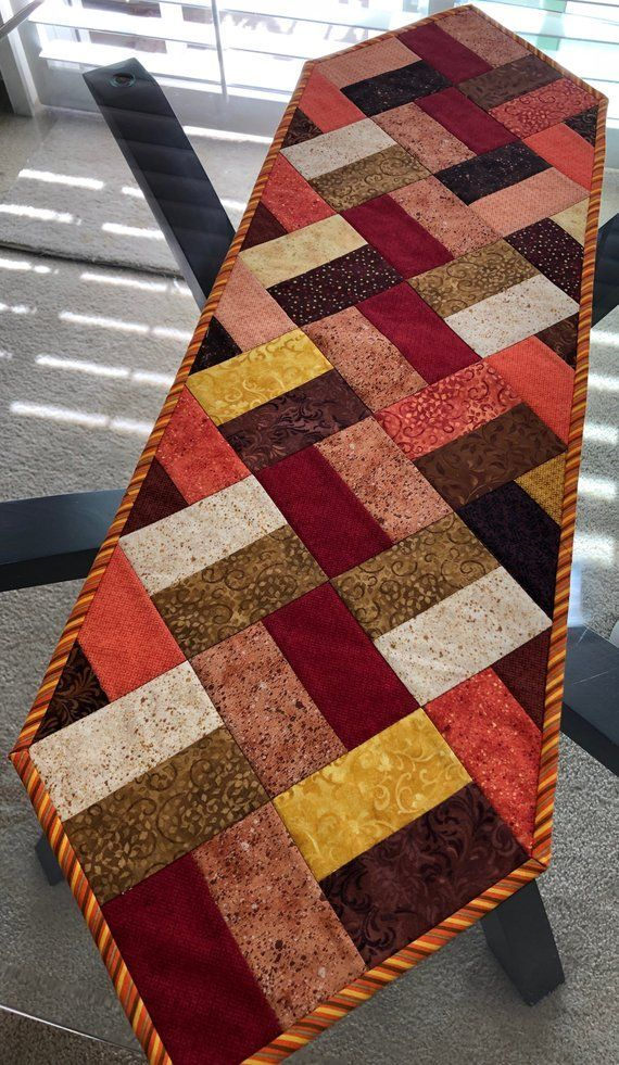 Fall Table Runner Quilted Table Runner Narrow Table Runner 11 1 2 X 39 1 4 Setinsta Quilted Table Runners Patterns Quilted Table Runners Fall Table Runners