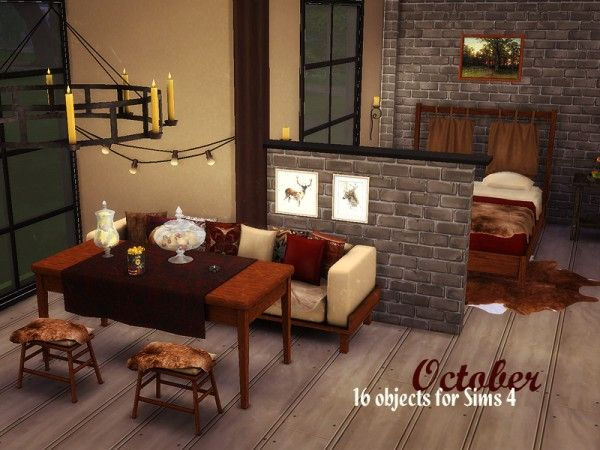The Sims Resource: October by Kiolometro • Sims 4 Downloads