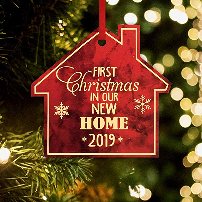 Amazon Com Cabany Co Christmas Ornament Our First Home Red Marble Home Kitchen Christmas Ornaments Christmas Holiday Decor