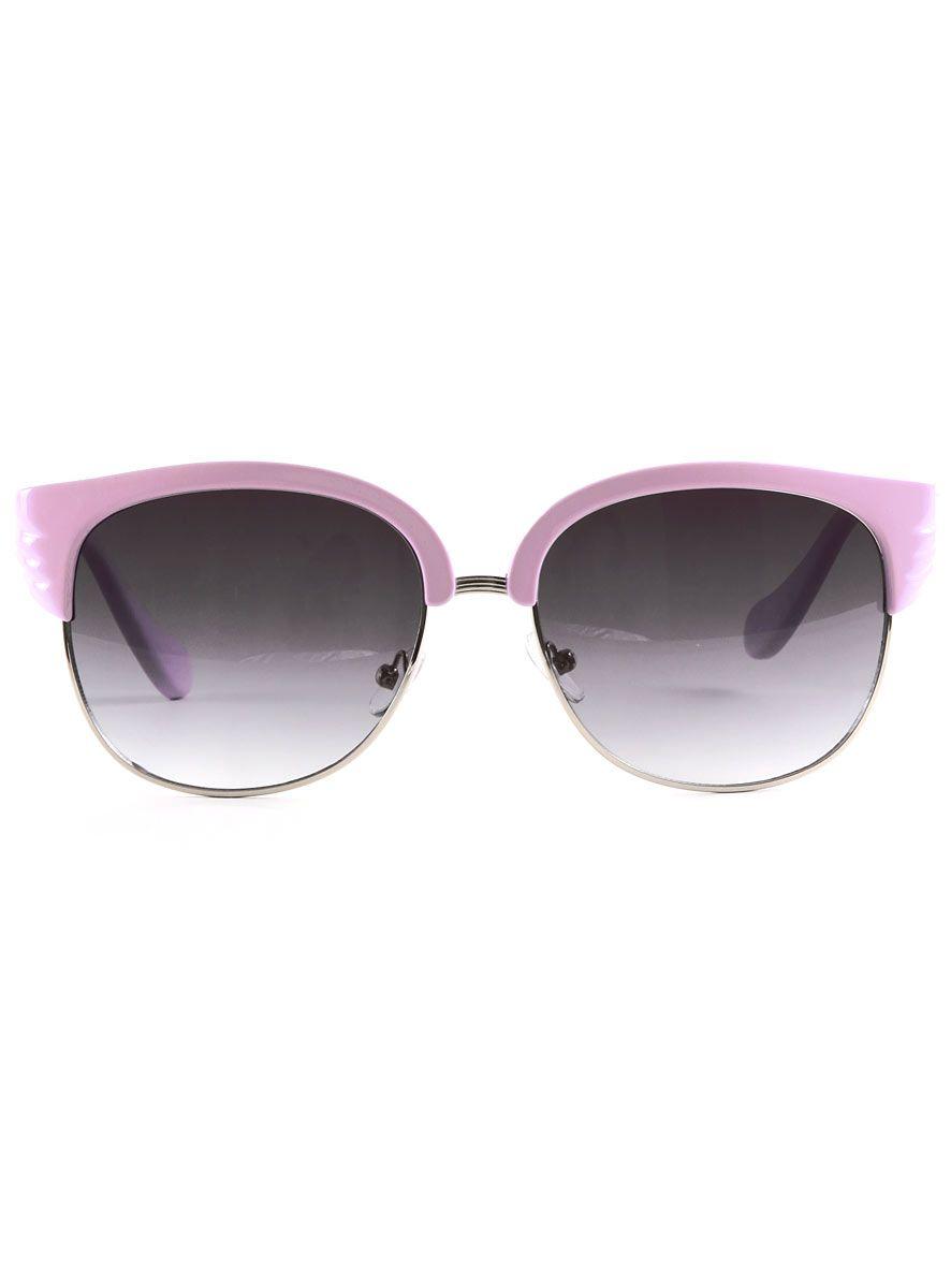 Lavender Deco Wing Sunglasses Plasticland Cateye Glasses