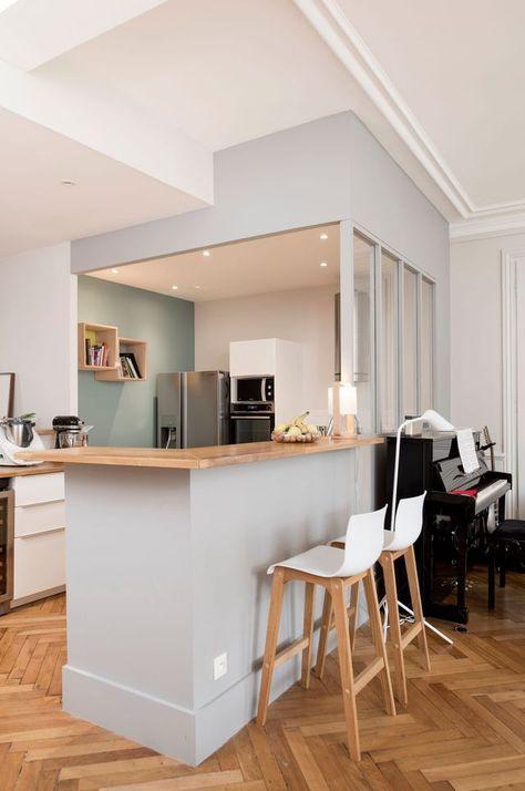 Appartement Lyon 3  un 100 m2 avec charme de lu0027ancien et touche - decoration de salon moderne