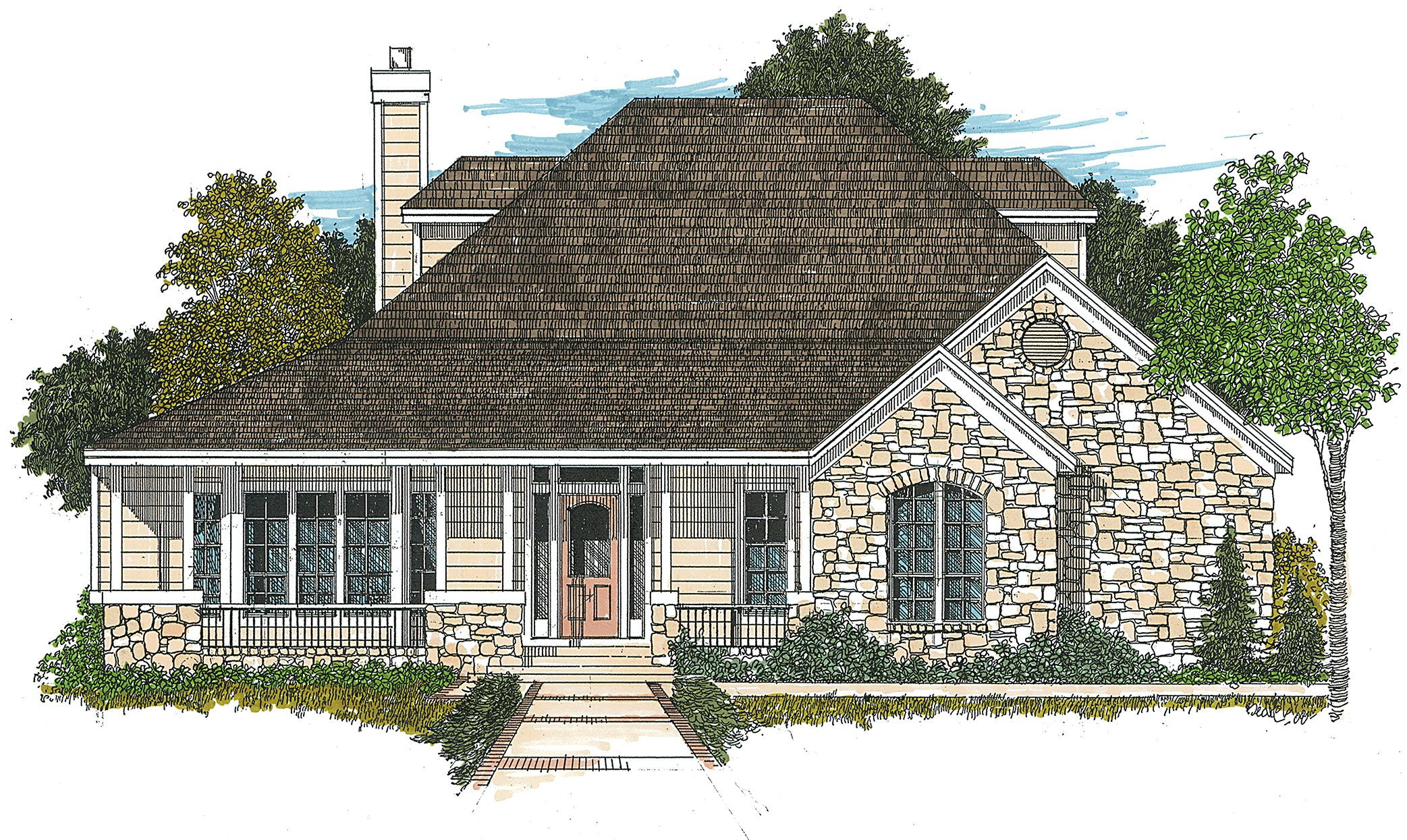 Plan 12507rs Hill Country Farmhouse Country House Plans Brick House Plans Country Style House Plans
