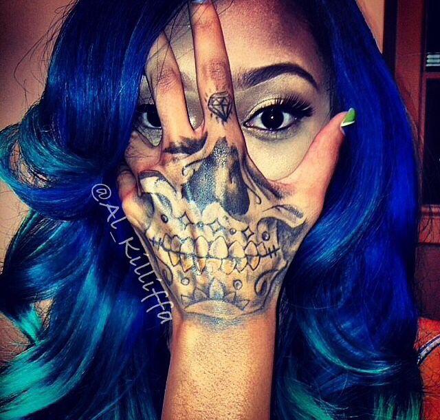 Pin By Kadedra Walden On Paint Job Skull Hand Tattoo Tattoos Skull Hand