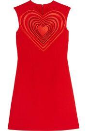 Christopher KaneGuipure lace-paneled crepe mini dress
